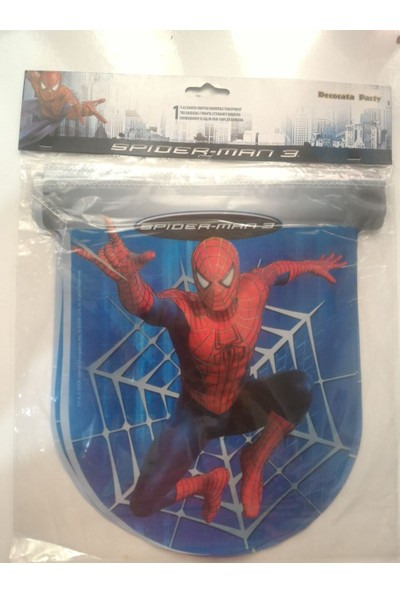 Decorata Party Ervalistore Spiderman Örümcek Adam Bayrak Flama Flag Banner 2.3 Mt