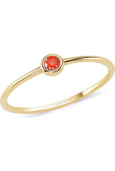 Altınsepeti Rose Altın Kırmızı Taşlı Yüzük As227Yzr6 11