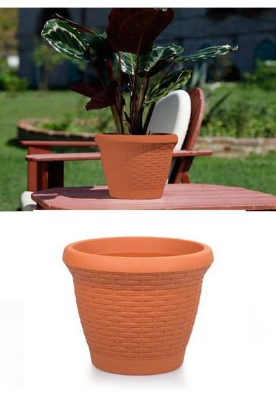 Mini Garden Hasır Saksı 3,3 LT Turuncu