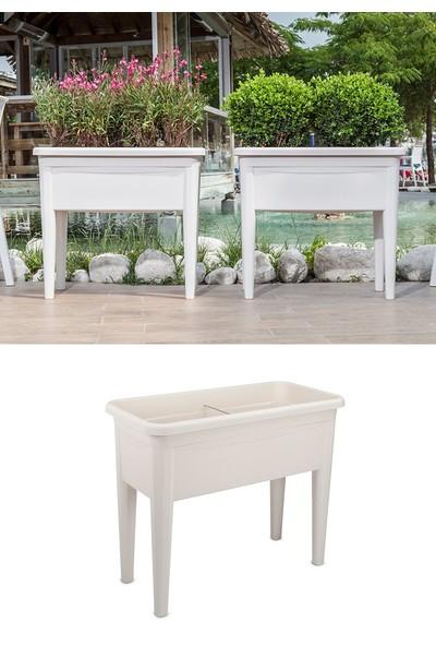 Mini Garden Mini Garden Ayaklı Bahçe Saksı Beyaz