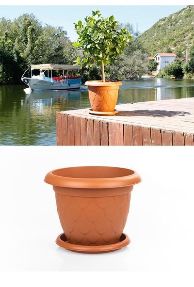 Mini Garden Mini Garden Damla Saksı 8 LT Kahve