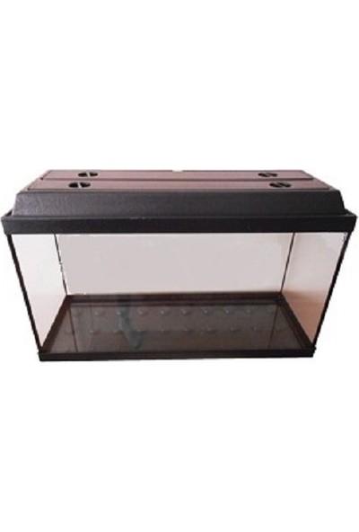 Kanki Pet Akvaryum 65 Cm Siyah Tam Kapaklı