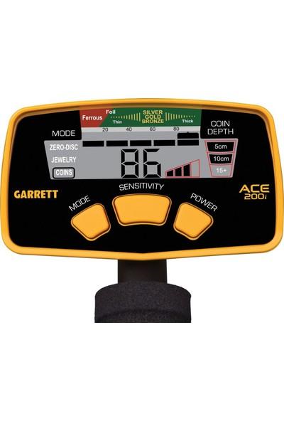 """Garrett Ace 200İ (6.5x9"""" Performans Başlıkla"""