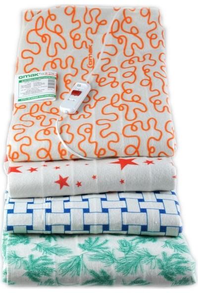 OMAK® Tek Kişilik Elektrikli Battaniye 90 x 150 cm