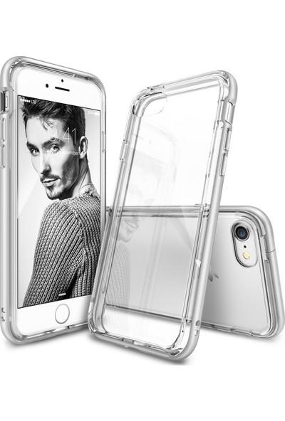 Ringke Frame iPhone 7 Çerçeveli Bumper Kılıf Ice Silver - Extra Tam Koruma