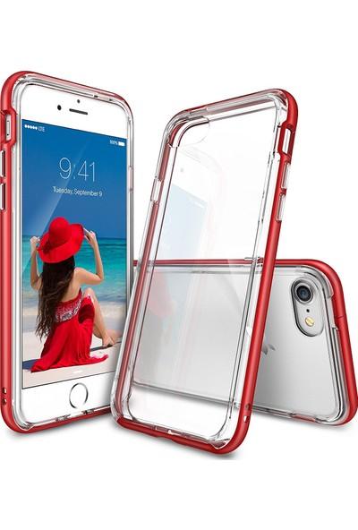 Ringke Frame iPhone 7 Çerçeveli Bumper Kılıf Blaze Red - Extra Tam Koruma