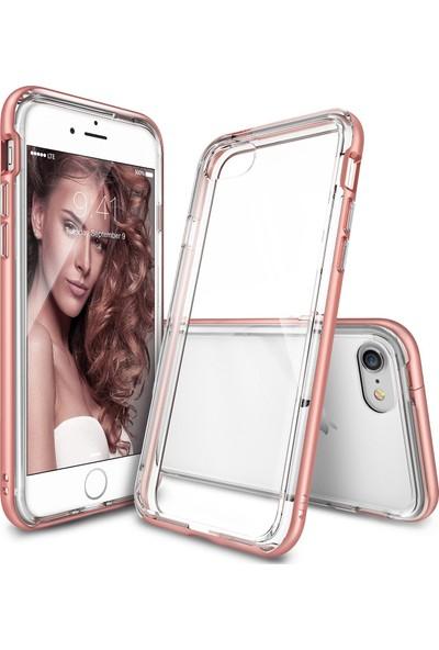 Ringke Frame iPhone 7 Çerçeveli Bumper Kılıf Rose Gold - Extra Tam Koruma