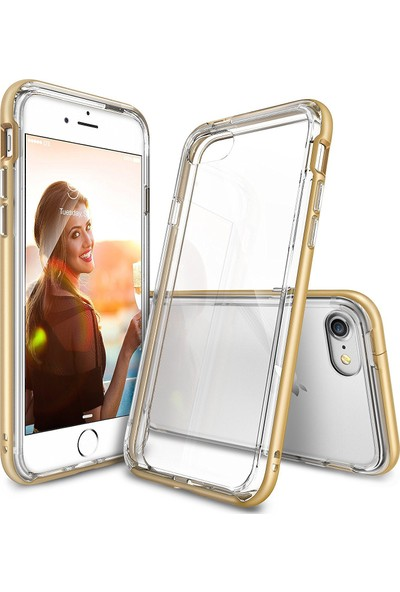 Ringke Frame iPhone 7 Çerçeveli Bumper Kılıf Royal Gold - Extra Tam Koruma