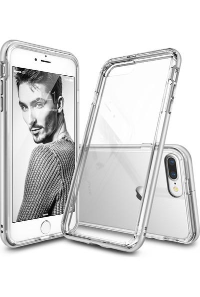 Ringke Frame iPhone 7 Plus Çerçeveli Bumper Kılıf Şeffaf - Extra Tam Koruma