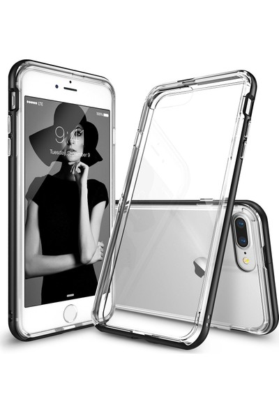 Ringke Frame iPhone 7 Plus Çerçeveli Bumper Kılıf Sf Black - Extra Tam Koruma