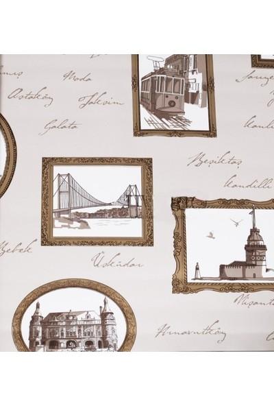 Altın Varaklı Çerçeve Pop-Art Duvar Kağıdı