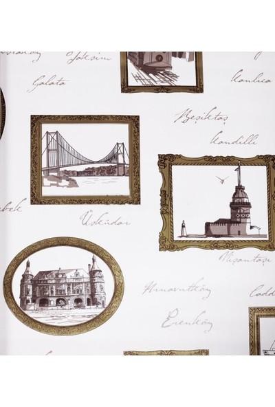 Altın Yaldızlı Çerçeve Pop-Art Duvar Kağıdı