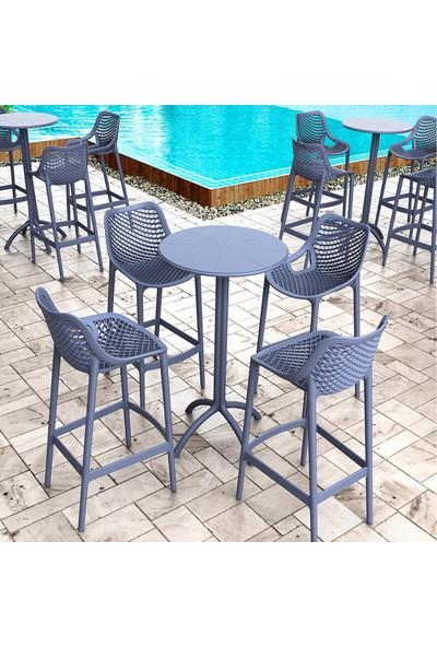 Siesta Contract Octopus Bar Masa Takımı - Koyu Gri - Balkon Bahçe Mobilyası