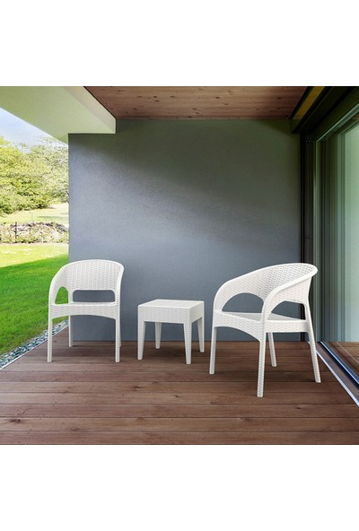 Siesta Rattan Panama Koltuk - Beyaz