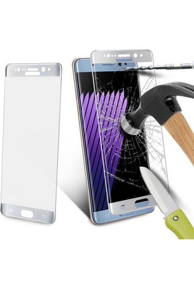 Glass Samsung Galaxy Note 7 Kavisli Cam Ekran Filmi Cin77 Gri