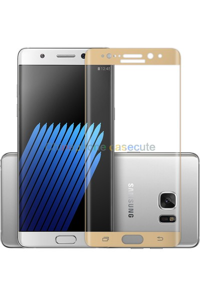 Glass Samsung Galaxy Note 7 Kavisli Cam Ekran Filmi Cin77 Sarı