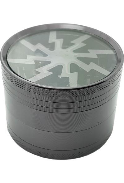 Siyah Renk 60 Mm. Grinder,Çelik Tütün Öğütücüsü Parçalayıcı Ps93