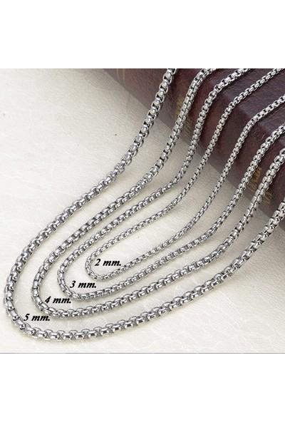 Chavin Gri 75 Cm. 3 Mm. Erkek Çelik Zincir Dh01