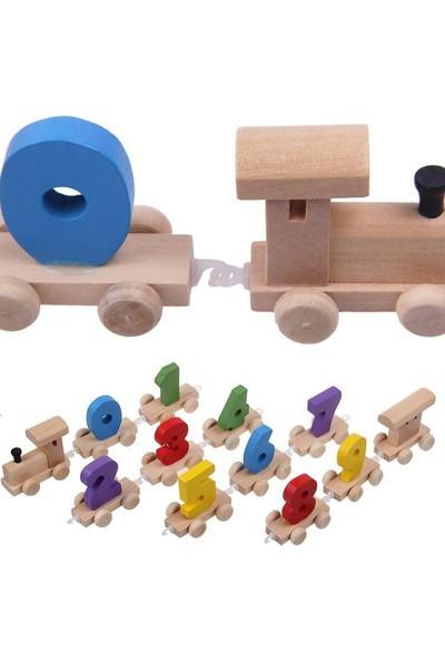 Hopimeğitici Ahşap Rakamlı Tren Oyuncak