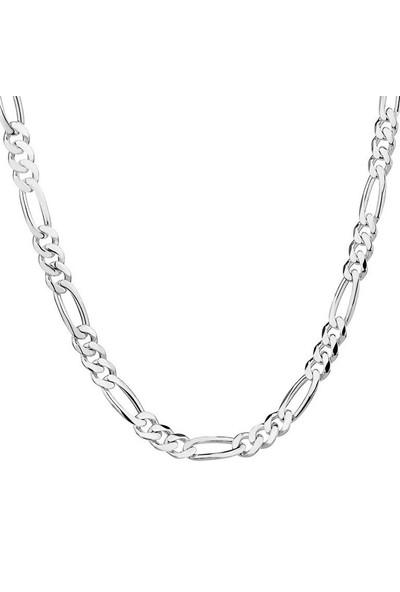 Modakedi Gümüş Geometrik Erkek Zincir Kolye