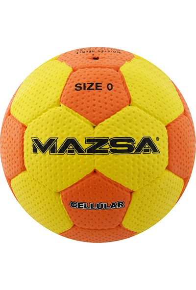 Mazsa Cellular Deri Dikişli 0 No Mini Hentbol Topu