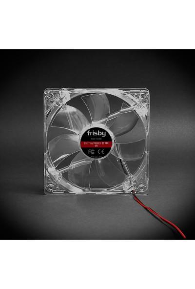 Frisby FCL-F12C Şeffaf Kasa Fanı (12cm Fan 4xMavi Led)