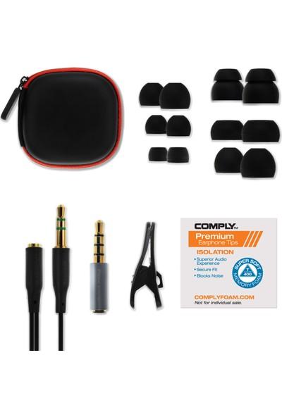 Soundmagic E50C Black Red Kulakiçi Kulaklık