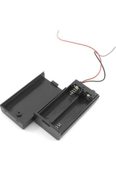 Electroon 2li Kalem Pil Kutusu Kapaklı Anahtarlı 2xAA