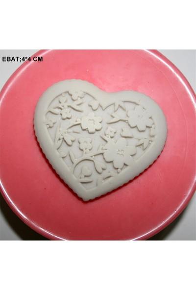 Pasta Mağaza Çiçekli Kalp Silikon,Mum,Kokulu Taş Kalıbı