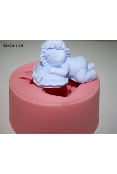 Pasta Mağaza Minik Bebekler Silikon,Mum, Kokulu Taş Kalıbı