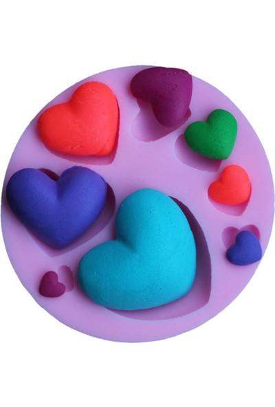 Pasta Mağaza Minik Kalpler Silikon,Mum, Kokulu Taş Kalıbı