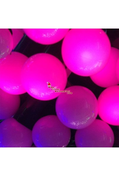 Pandoli Pembe Renkli 50 Ampullü Yılbaşı Top Led Işık 4.5 Metre
