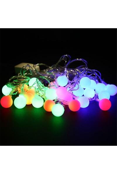 Pandoli Top Şeklinde Yılbaşı Çam Ağacı Işığı Karışık Renk 5 Metre 28 Ampüllü