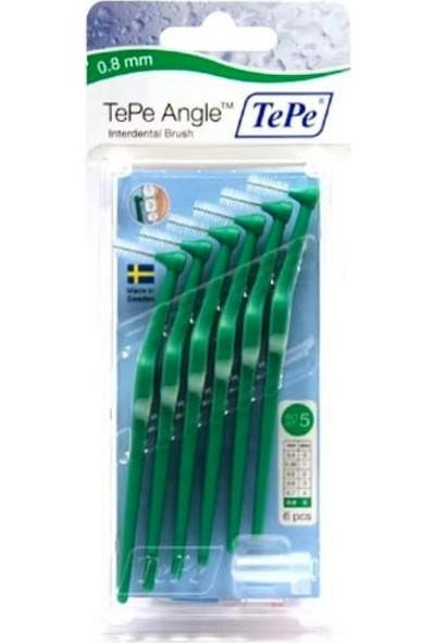 Tepe Angle Saplı Arayüz Fırçası Yeşil 0,8 Mm 6 Lı