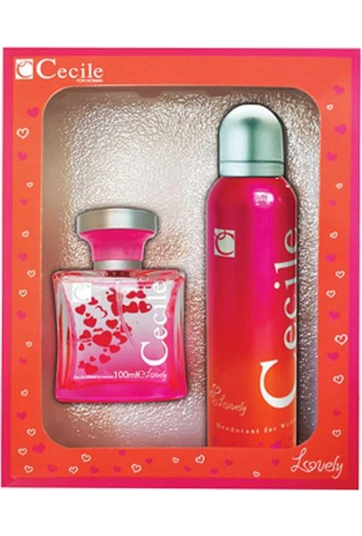 Cecile Lovely Edt 100 Ml Kadın Parfüm + 150 Ml Deodorant Set