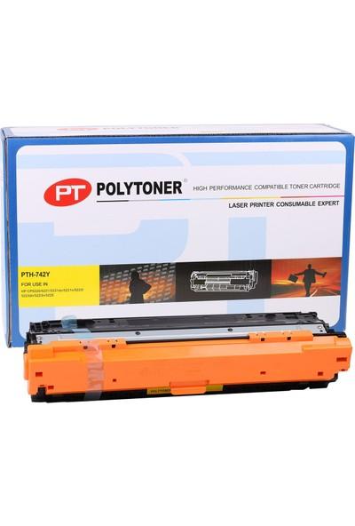 Polytoner Hp Ce742A Cp5225 Sarı Toner