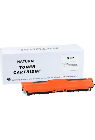 Natural Hp Ce311A Toner Mavi Cp1025 (126A) Crg-729 Pro-100