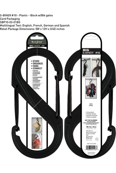 Nite-İze S-Binner Plastik Size 10 Blk/Blk Gate
