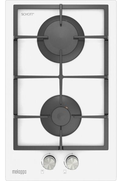 Mekappa Hda35B-B22Sved (Lpg) Ankastre Beyaz Cam Ocak (Domino)