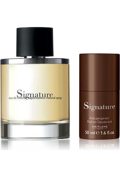 Oriflame Signature Erkek Parfümü 2'li Set