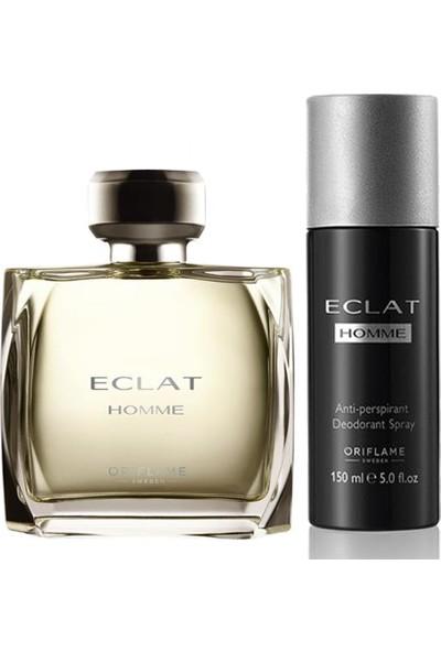 Oriflame Eclat Homme Erkek Parfümü 2 li Set