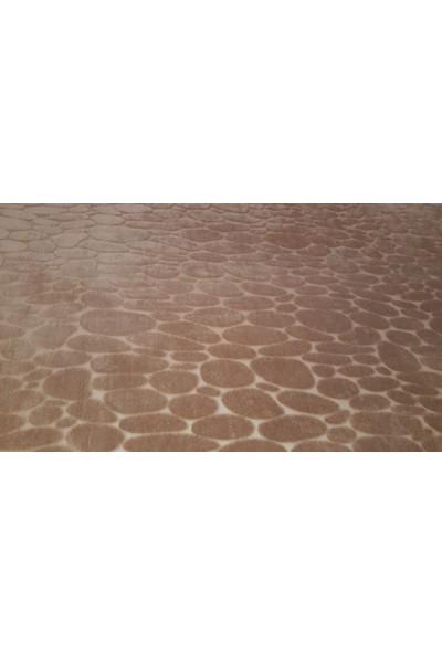 Ladystone Welsoft Lastikli Halı Örtüsü 6m2 (200*290) Mozaik Kahve