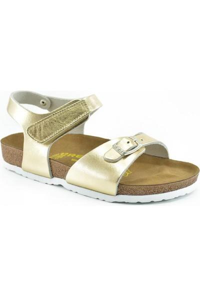 Real Natura 323-Venessa Altın Rengi Kız Çocuk Sandalet