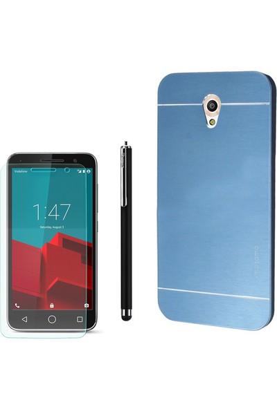 Gpack Vodafone Smart 7 Style Kılıf Sert Arka Kapak Motomo +Kalem + Cam