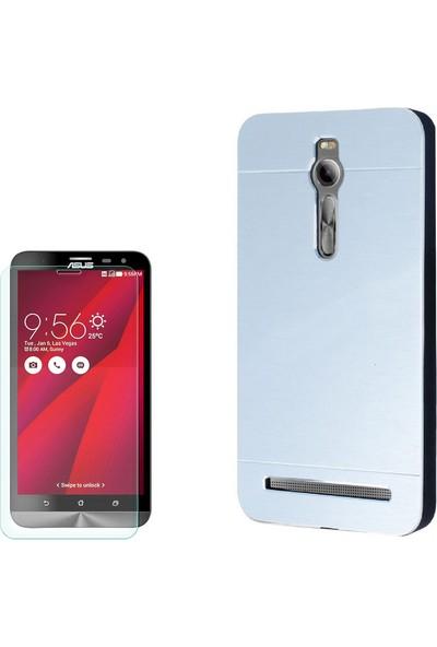 Gpack Asus Zenfone 2 Kılıf Sert Arka Kapak Motomo + Cam