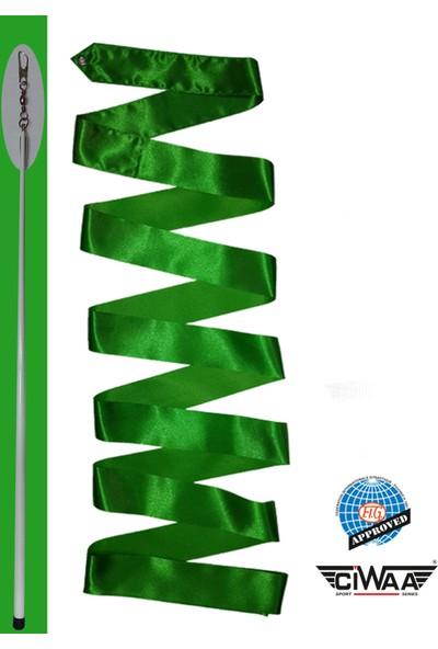 Ciwaa Ritmik Cimnastik Kurdelası ve Sopası Yeşil Fig Onaylı CWA126