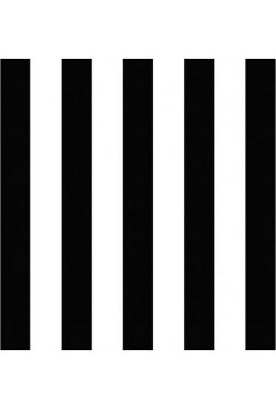 Siyah Beyaz Çizgi Desenli Duvar Kağıdı 15243