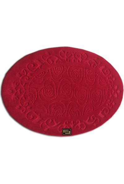 Oval 100x150 cm Halı -Kırmızı 1 Adet Alana 1 Adet Hediye