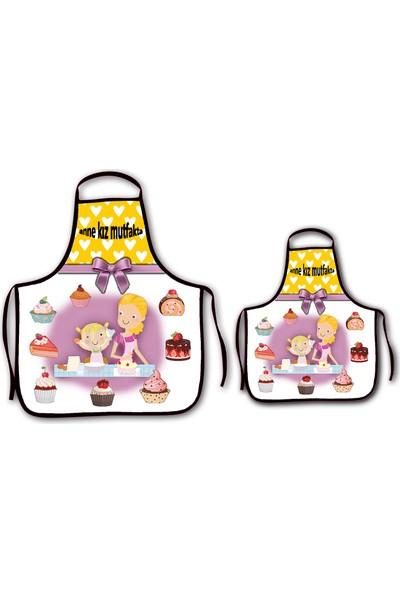 Melay Anne Kız Mutfakta Mutfak Önlüğü