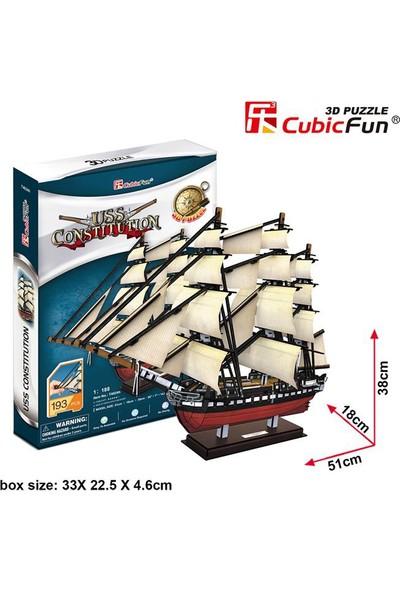 Cubic Fun 3D Puzzle 193 Parça Uss Constitution Gemisi